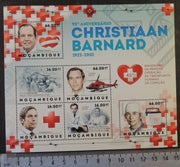 Mozambique 2012 christiaan barnard red cross medical heart helicopter m/sheet mnh