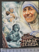 Mozambique 2012 mother teresa religion women nobel children birds s/sheet mnh
