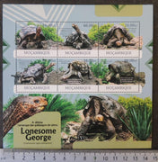 Mozambique 2012 reptiles turtles giant tortoises lonesome george m/sheet mnh