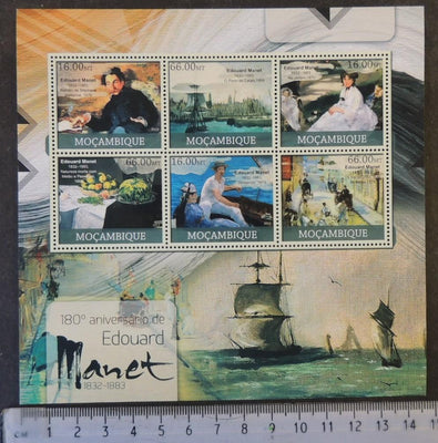 Mozambique 2012 edouard manet art paintings women ships m/sheet mnh