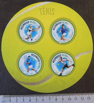 Mozambique 2013 tennis sport federer djokovic nadal murray m/sheet mnh