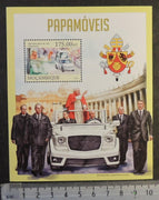 Mozambique 2013 popemobile vehicles benedict religion transport s/sheet mnh
