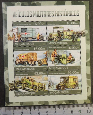 Mozambique 2013 historic military transport vehicles red cross m/sheet mnh