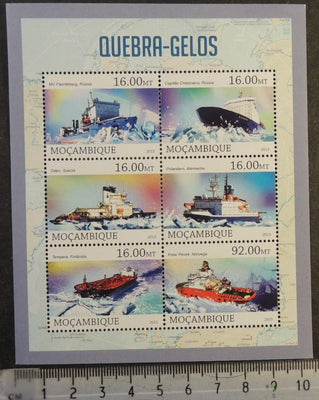 Mozambique 2013 ships icebreakers polar maps m/sheet mnh
