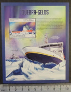 Mozambique 2013 ships icebreakers polar maps s/sheet mnh