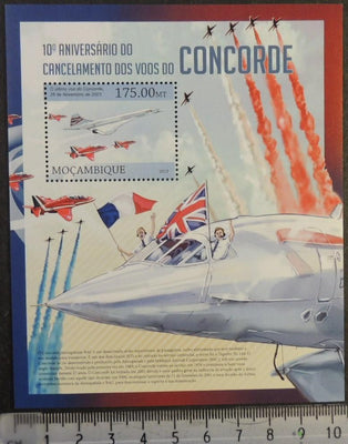 Mozambique 2013 concorde aviation transport flags red arrows raf s/sheet mnh