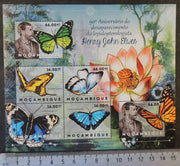 Mozambique 2012 henry john elwes insects butterflies flowers m/sheet mnh