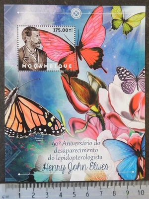 Mozambique 2012 henry john elwes insects butterflies flowers s/sheet mnh