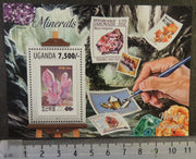Uganda 2013 minerals stamp on stamp s/sheet mnh