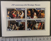 Maldives 2014 hermitage museum art paintings rombouts jordaens horemans batoni m/sheet mnh