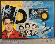Maldives 2014 elvis presley 60th anniversary first single music cinema rock pops s/sheet mnh