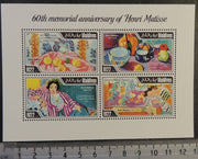Maldives 2014 henri matisse art paintings m/sheet mnh
