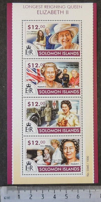 Solomon Islands 2015 queen elizabeth popes diana william kate royalty children flags dogs women m/sheet mnh