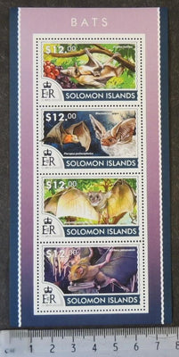 Solomon Islands 2015 bats mammals fruit m/sheet mnh