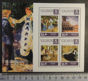 Solomon Islands 2014 the impressionists bazille pissarro degas manet renior art paintings women m/sheet mnh