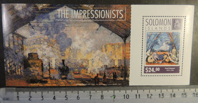 Solomon Islands 2014 the impressionists monet cezanne art paintings s/sheet mnh