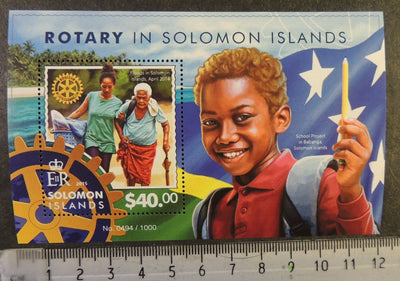 Solomon Islands 2015 rotary women children flags s/sheet mnh