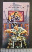 Central Africa 2015 elvis presley music cinema motorcycles s/sheet mnh