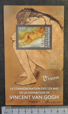 Central Africa 2015 art vincent van gogh paintings nudes women s/sheet mnh