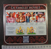 Togo 2015 royal family queen elizabeth george william kate diana royalty stamp exhibition m/sheet mnh