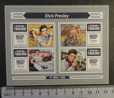 Togo 2015 elvis presley music films women motorcycles m/sheet mnh