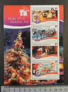 Togo 2014 christmas religion santa claus children nativity reindeer trees m/sheet mnh