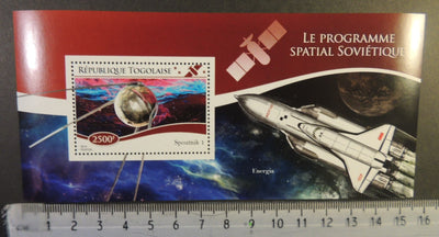 Togo 2014 soviet space program russia energia sputnik rockets s/sheet mnh