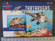 St Thomas 2015 turtles reptiles marine life fish monacophil stamp exhibition s/sheet mnh