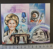 St Thomas 2013 space russia valentina tereshkova women rockets vostok s/sheet mnh