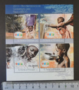 St Thomas 2013 unesco world water day children m/sheet mnh