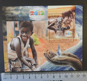 St Thomas 2013 unesco world water day children s/sheet mnh