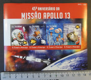 St Thomas 2015 apollo 13 mission space lovell swigert haise rockets m/sheet mnh