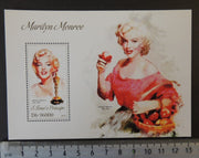St Thomas 2013 marilyn monroe cinema music women fruit food s/sheet mnh