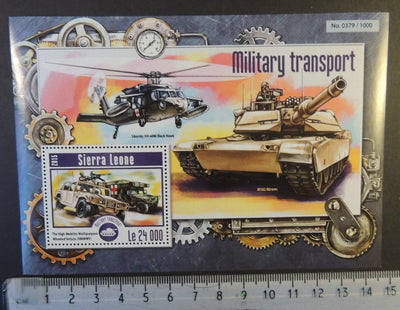 Sierra Leone 2015 military transport helicopters aviation tanks s/sheet mnh