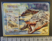 St Thomas 2014 crocodiles reptiles s/sheet mnh