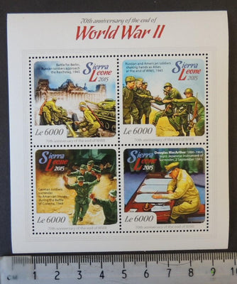 Sierra Leone 2015 world war ii wwii ww2 militaria macarthur tanks m/sheet mnh