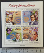Sierra Leone 2015 rotary silvester schiele harry ruggles hiram shorey paul harris flowers orchids m/sheet mnh