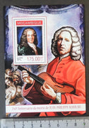 Mozambique 2014 jean-philippe rameau classical music composer violin s/sheet mnh
