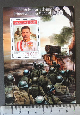 Mozambique 2014 world war 1 ww1 wwi militaria franz ferdinand tanks s/sheet mnh