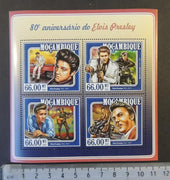 Mozambique 2015 elvis presley music cinema cars motorcycles m/sheet mnh