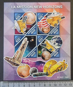 Niger 2015 new horizons space pluto atlas rockets flags m/sheet mnh