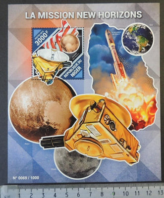 Niger 2015 new horizons space pluto atlas rockets flags s/sheet mnh