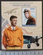 Niger 2014 charles lindbergh aviation pioneer s/sheet mnh
