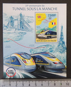 Niger 2014 channel tunnel euro transport railways maps tourism s/sheet mnh