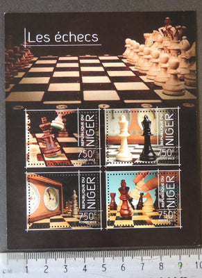 Niger 2013 chess pieces m/sheet mnh