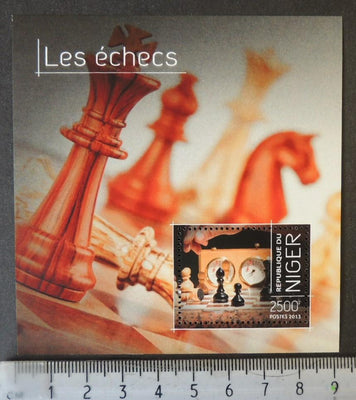 Niger 2013 chess pieces s/sheet mnh