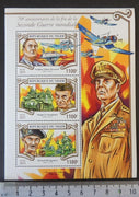 Niger 2015 world war ii roosevelt eisenhower montgomery aviation ships tanks m/sheet mnh