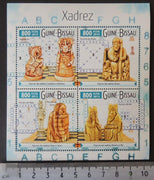 Guinea-Bissau 2015 chess pieces m/sheet mnh