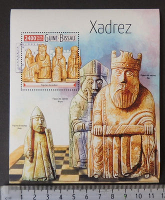 Guinea-Bissau 2015 chess pieces s/sheet mnh