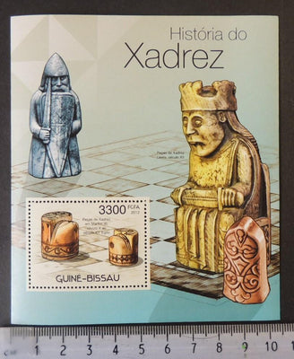 Guinea-Bissau 2012 history of chess pieces s/sheet mnh